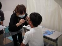 歯科検診の様子