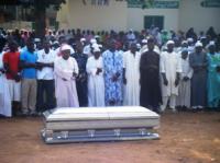 スラジュさんガーナでの葬儀